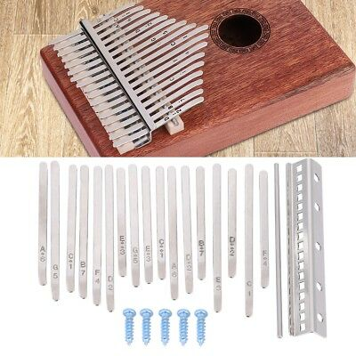 17PCS Kalimba Thumb Piano Stainless Steel Keys Kit Instrument Replacement Parts
