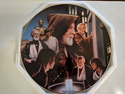 Star Wars Hamilton Collection Heroes and Villains Obi-Wan Kenobi Plate EX+
