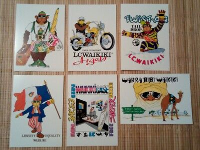 6 cartes postales publicitaires LC WAIKIKI
