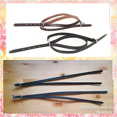 Leather Spur Straps for riding boots in brown or black 100s sold