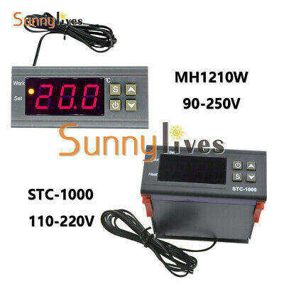 90~250V/110-220V Digital Temperature Controller Sensor Thermostat With Sensor