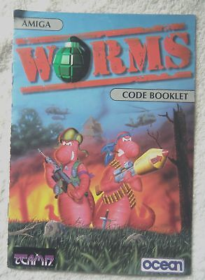 60899 Instruction Booklet - Worms [ Code Booklet ] - Commodore Amiga (1995)