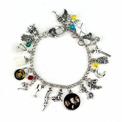 Women Ancient Silver Chain Harry Potter Combination Bracelet Beach Bangle Jewelr