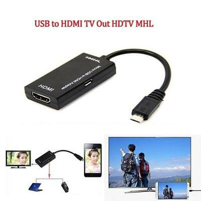 Mini Micro USB A Male MHL HDMI TV Adapter Connector Cable for Cell Phone Tablet