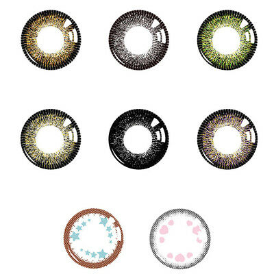 1Pc Cosmetic Contact Lenses Fashion Colorful Party Soft Round Eye Makeup Commode