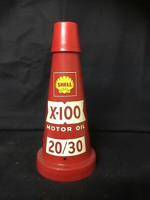 Shell X100 20/30 plastic oil bottle top with cap