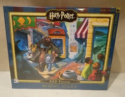 Harry Potter 'diagon Alley' 500 Pc Jigsaw Puzzle # Made In The Usa 24' X 18'