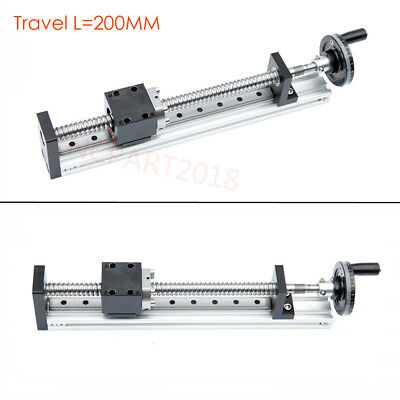 200MM Linear Module Stage 8 Inch Cross Sliding Ballscrew Motion Table XYZ Axis