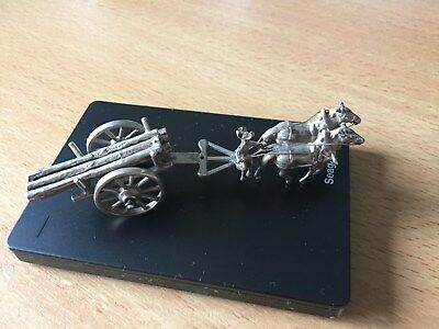 RARE-Antique - silver miniature - tow truck with logs, Netherlands, 1955