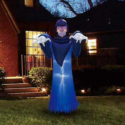 8ft Halloween Outdoor Decor Blow Up Inflatable Spooky Warlock Ghost Decorations