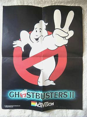 60925 Instruction Insert Poster - Ghostbusters II - Commodore Amiga (1984)