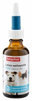 Beaphar Cleansing Lotion for Eye Care Cats & Dogs 50 ml Safe Effective Pet Drops