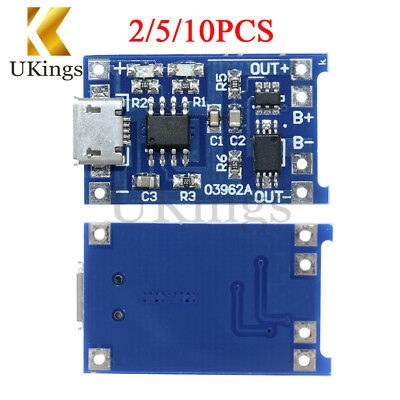 2/5/10PCS 5V 1A USB 18650 Lithium Battery Charger Board TP4056 Protection Module
