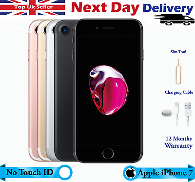 Apple iPhone 7 32GB 128GB 256GB UNLOCKED Colour touch id won't work excellent UK
