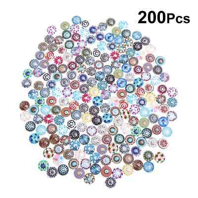 200X Dragon Eyes Mosaic Printed Glass Crystal Cabochons Snaps Buttons fr Jewelry