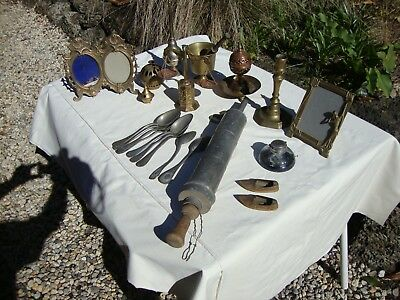 Assortment of copper and Bronze with Antiques from France and other places