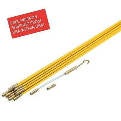 33' Fiberglass Flexible Electrical Fishing Rod/Sticks,cable wire coaxial pulling