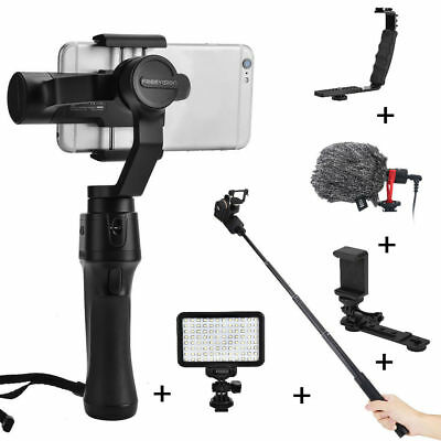 Freevision Vilta-m 3-Axis Stabilizer Gimbal for Phones + Microphone Fill Light G