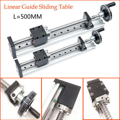Ballscrew Linear Motion Actuator 500MM Cross Slide Stage Table 20Inch XYZ Axis