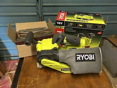 Ryobi One+ R18BS Belt Sander - Boxed with 12 x sanding sheets