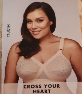 Playtex Cross Your Heart Wirefree Lace Bra | Beige | Size 20B | Y1001H
