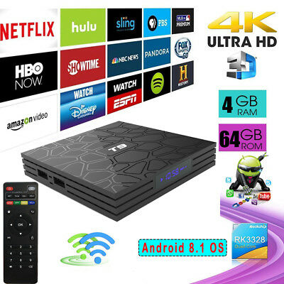 T9 Android 8.1 RK3328 USB 3.0 Smart TV Box 4+32GB 2.4G Wifi 4K H.265 Set-top Box