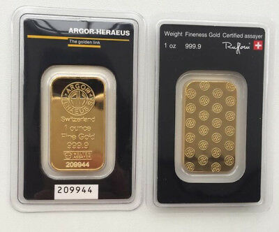 Argor -heraeus 1oz Gold Bar