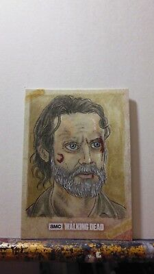 Topps Walking Dead Road To Alexandria Rick Grimes (Andrew Lincoln) Sketch Card