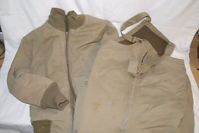 WW2 WWII US Original armored tanker jacket and pants, FREE ship. winter combat