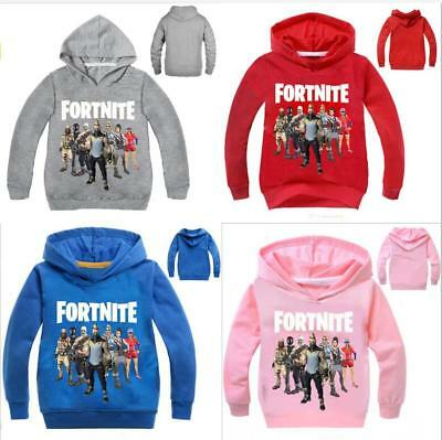 Fornite Battle Pass Print Print Hoodies Boys Sweatshirts Clothing 2-11 Years