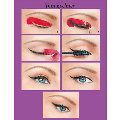 72 Pcs Eyeliner Drawing Template Stickers 8 Models Fashion Cosmetic Tool Kits