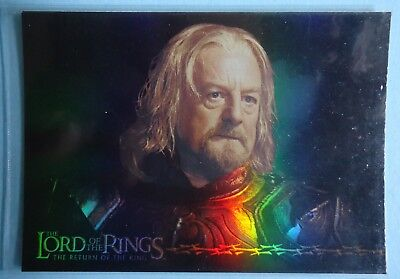 2003 Topps LOTR 'Return of the King' - Theoden Prismatic Foil Card 8/10
