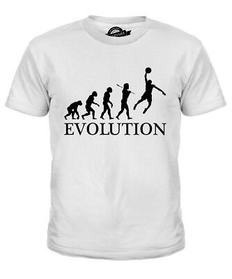 Basketball Slam Dunk Evolution Of Man Kids T-Shirt Tee Top Gift