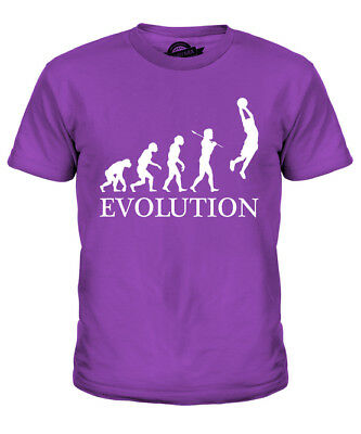 Slam Dunk Basketball Evolution Of Man Kids T-Shirt Tee Top Gift