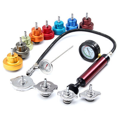 Radiator Pressure Compression Tester Kit 14pc Cooling System Leak Detector Tool