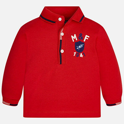 Mayoral 6 Month Boy Long Sleeve Polo Shirt RRP £18 2117