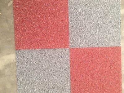 Brand New Gradus Predator Contract Carpet Tiles 8 X Grey And 8 X Red