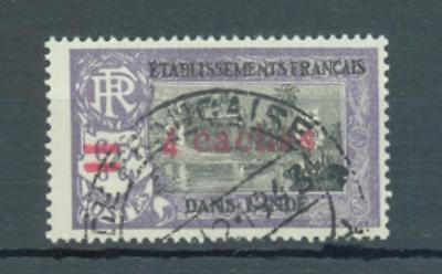 French Indian Settlements 1943 4Ca on 6Fa 6Ca sg.244 used