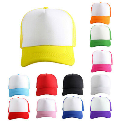 Cheap Hat Curved Cap Adjustable For Children Cotton Plain Baseball Trucker Mesh.
