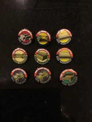 The Home Depot Kids Workshops Lapel Pins Lot (9) Free Shipping