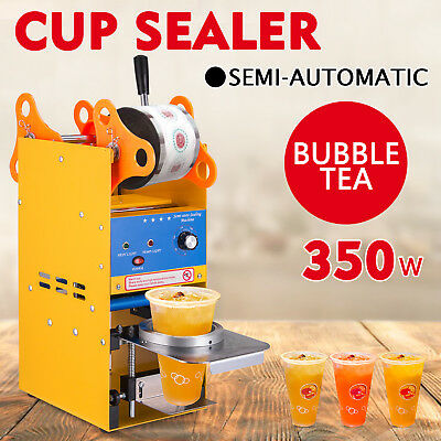 300-500 Cups/H Semi-automatic Tea Cup Sealing Commercial Stainless Steel Useful