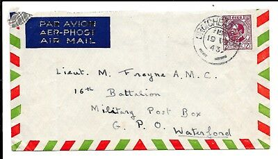IRELAND 1943 2½d COVER TO MILITARY P.O WATERFORD