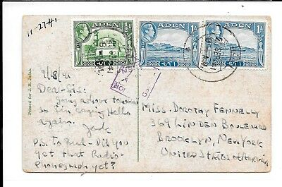 ADEN 1941 WWII PASSED BY CENSOR  No4 PPC OF ADEN
