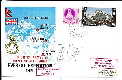 Nepal 1976 Expedition Cover Signed