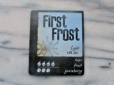 Hydes First Frost Light real ale beer pump clip sign