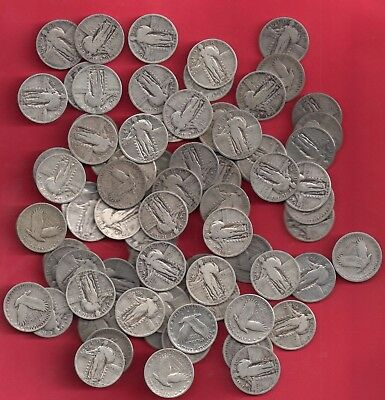 **  Full Roll Of  40 Silver Standing Liberty  Quarters   Mixed   ***