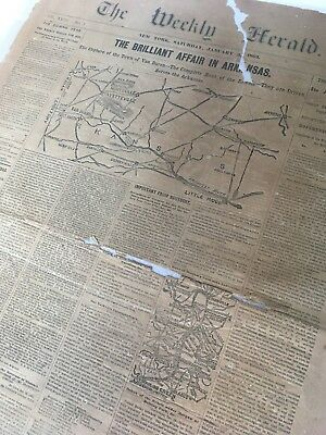 Civil War Newspaper:  The Weekly Herald New York 1863
