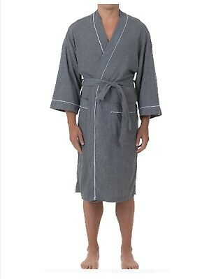 Mens Robe Fruit of the Loom Men's Waffle Robe ~ Blue ~ Size 2XL 3XL