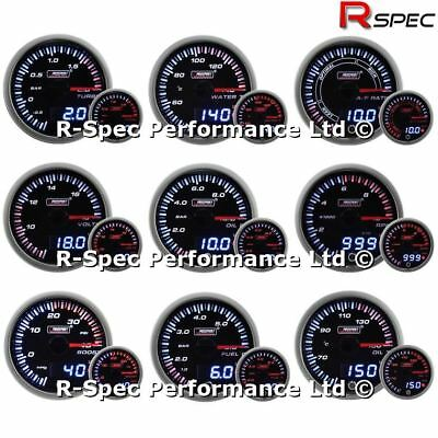 ANY 3 GAUGE OFFER - 60mm Prosport JDM Dual Display Warn Gauges Turbo Boost Etc