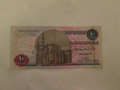 Egypt 10 pounds 2005 central bank oqida SIGN - crispy - collect & gift B 48